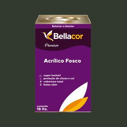 Tinta Acrílica Fosca Premium C91 Verde Grama 16L Bellacor