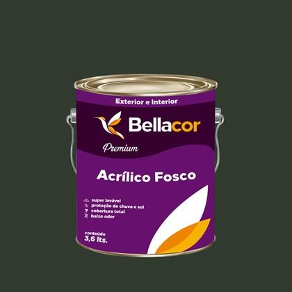 Tinta Acrílica Fosca Premium C91 Verde Grama 3,2L Bellacor