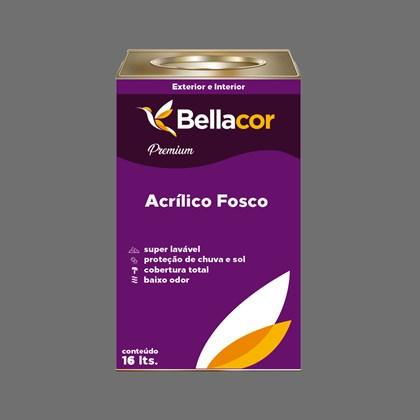 Tinta Acrílica Fosca Premium C95 Cinza Grafite 16L Bellacor