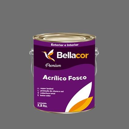 Tinta Acrílica Fosca Premium C95 Cinza Grafite 3,2L Bellacor