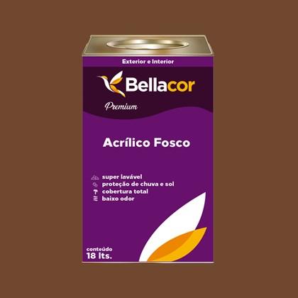Tinta Acrílica Fosca Premium C98 Cacau 16L Bellacor