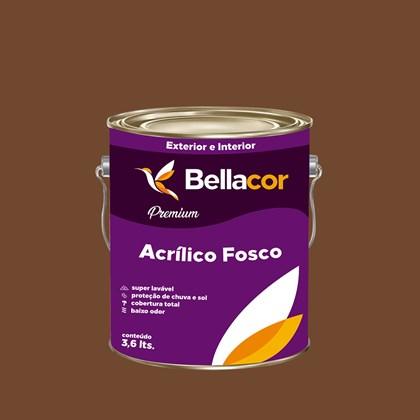 Tinta Acrílica Fosca Premium C98 Cacau 3,2L Bellacor