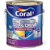 TINTA ACRÍLICA FOSCA PROTEÇÃO SOL E CHUVA BRANCO - 3,6L CORAL