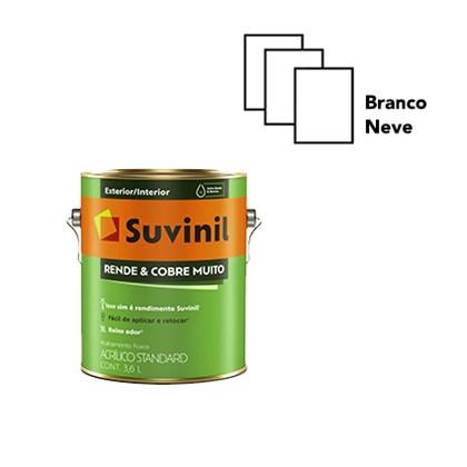 TINTA ACRÍLICA FOSCA RENDE E COBRE MUITO BRANCO - 3,6L SUVINIL