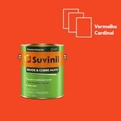 TINTA ACRÍLICA FOSCA RENDE E COBRE MUITO VERMELHO CARDINAL - 3,6L SUVINIL