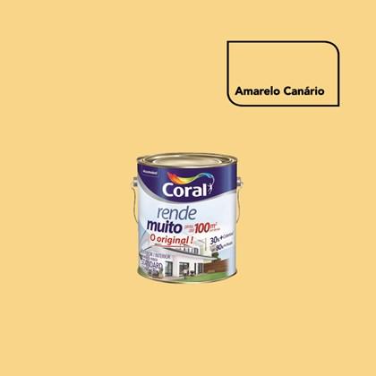 TINTA ACRÍLICA FOSCA RENDE MUITO AMARELO CANÁRIO - 3,6L CORAL