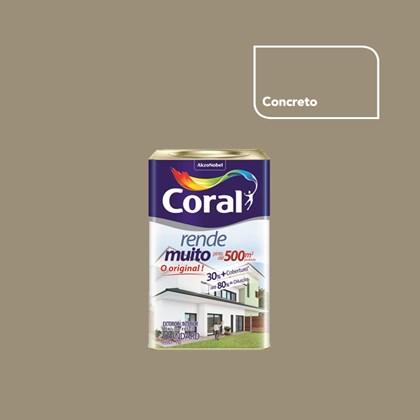 TINTA ACRÍLICA FOSCA RENDE MUITO CONCRETO - 18L CORAL