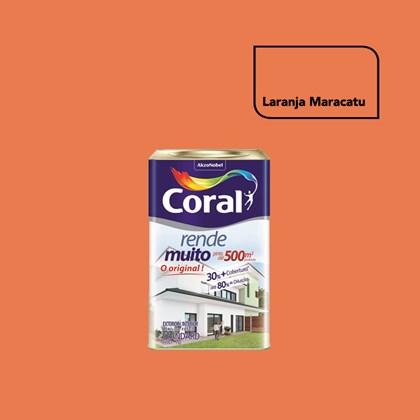 TINTA ACRÍLICA FOSCA RENDE MUITO LARANJA MARACATU - 18L CORAL