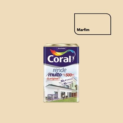 TINTA ACRÍLICA FOSCA RENDE MUITO MARFIM - 18L CORAL
