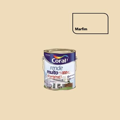 TINTA ACRÍLICA FOSCA RENDE MUITO MARFIM - 3,6L CORAL