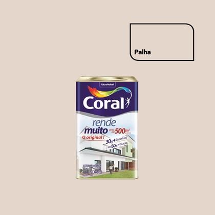 TINTA ACRÍLICA FOSCA RENDE MUITO PALHA - 18L CORAL