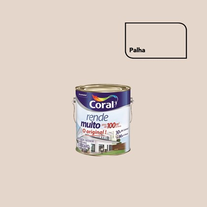 TINTA ACRÍLICA FOSCA RENDE MUITO PALHA - 3,6L CORAL