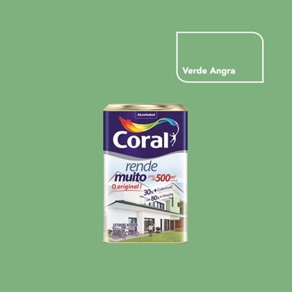TINTA ACRÍLICA FOSCA RENDE MUITO VERDE ANGRA - 18L CORAL
