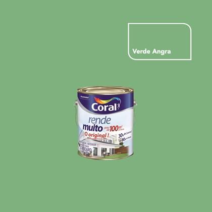 TINTA ACRÍLICA FOSCA RENDE MUITO VERDE ANGRA - 3,6L CORAL