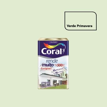 TINTA ACRÍLICA FOSCA RENDE MUITO VERDE PRIMAVERA - 18L CORAL