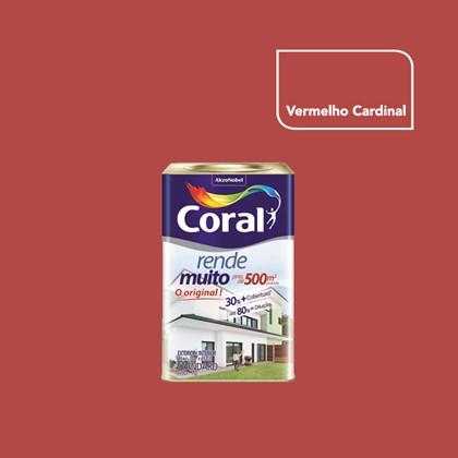 TINTA ACRÍLICA FOSCA RENDE MUITO VERMELHO CARDINAL - 18L CORAL