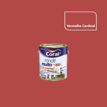 TINTA ACRÍLICA FOSCA RENDE MUITO VERMELHO CARDINAL - 3,6L CORAL