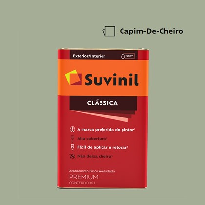 Tinta Acrílica Fosco Aveludado Clássica Capim de Cheiro 16L Suvinil