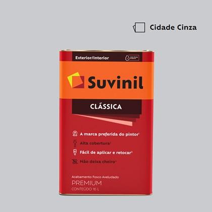 Tinta Acrílica Fosco Aveludado Clássica Cidade Cinza 16L Suvinil