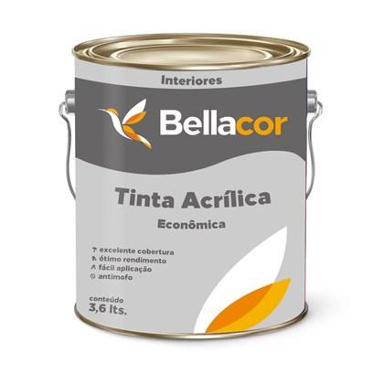 Tinta Acrílica Fosco Branco Econômico 3,6L - Bellacor