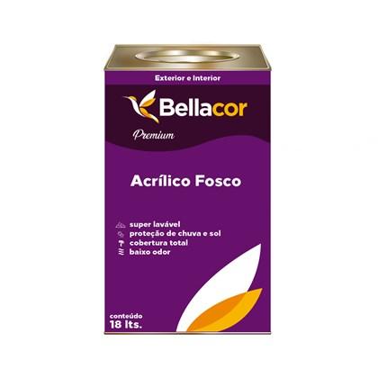 Tinta Acrílica Fosco Branco Premium 18L - Bellacor