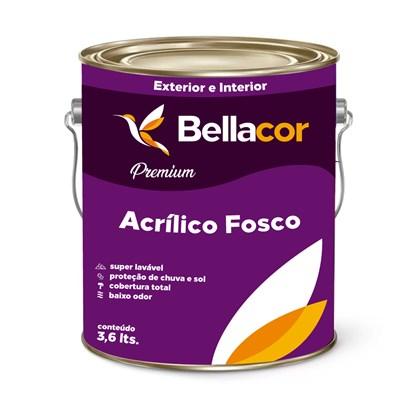 Tinta Acrílica Fosco Branco Premium 3,6L -  Bellacor