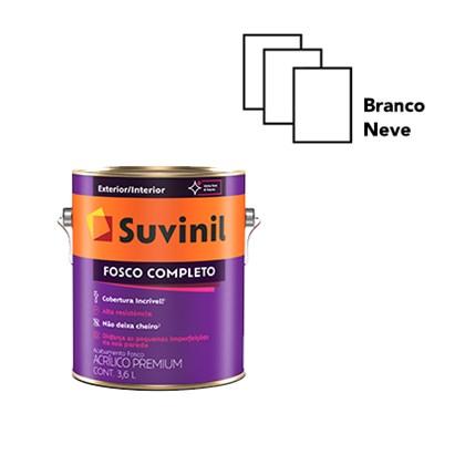 TINTA ACRÍLICA FOSCO COMPLETO BRANCO NEVE- 3,6L SUVINIL