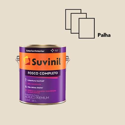 TINTA ACRÍLICA FOSCO COMPLETO PALHA - 3,6L SUVINIL