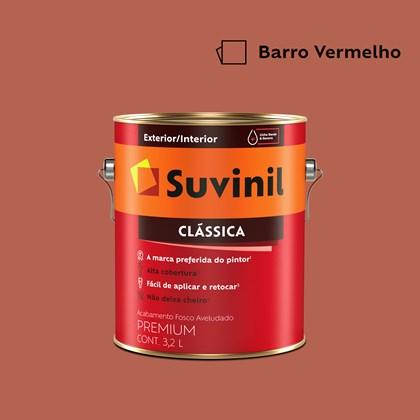 Tinta Acrílica Premium Clássica Barro Vermelho 3,2L Suvinil