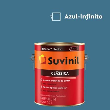 Tinta Acrílica Premium Fosco Aveludado Clássica Azul Infinito 3,2L Suvinil