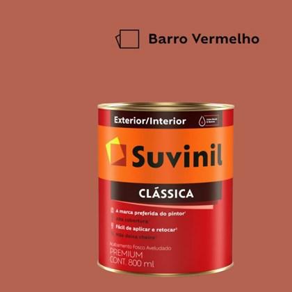 Tinta Acrílica Premium Fosco Aveludado Clássica Barro Vermelho 800ml Suvinil