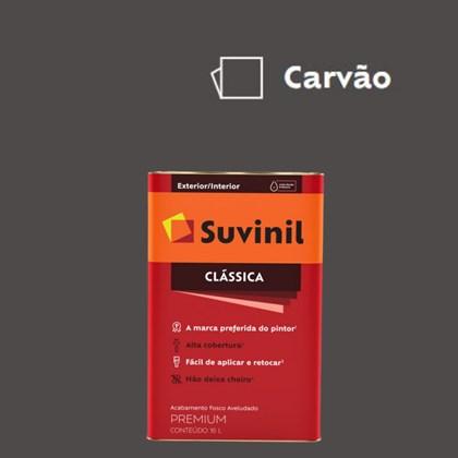 Tinta Acrílica Premium Fosco Aveludado Clássica Carvão 16L Suvinil