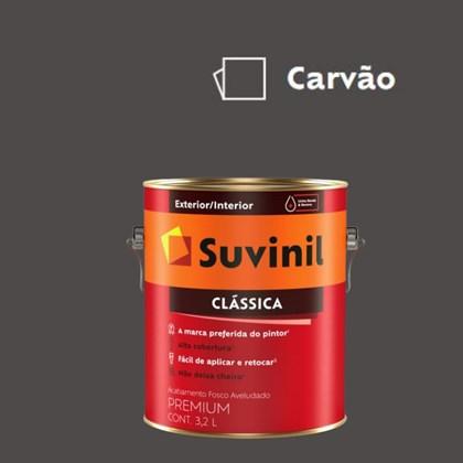 Tinta Acrílica Premium Fosco Aveludado Clássica Carvão 3,2L Suvinil