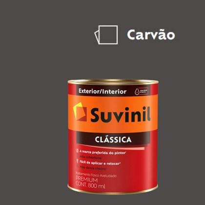 Tinta Acrílica Premium Fosco Aveludado Clássica Carvão 800ml Suvinil