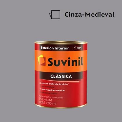 Tinta Acrílica Premium Fosco Aveludado Clássica Cinza Medieval 800ml Suvinil