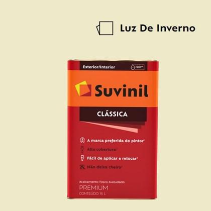 Tinta Acrílica Premium Fosco Aveludado Clássica Luz de Inverno 16L Suvinil