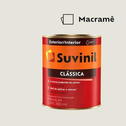Tinta Acrílica Premium Fosco Aveludado Clássica Macramê 800ml Suvinil
