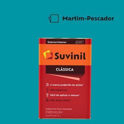 Tinta Acrílica Premium Fosco Aveludado Clássica Martim Pescador 16L Suvinil