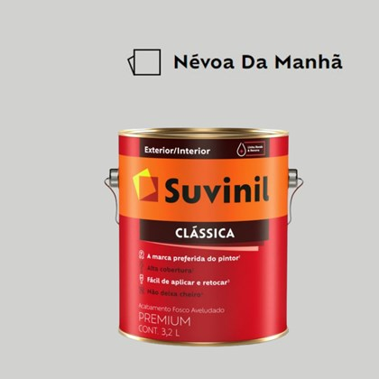 Tinta Acrílica Premium Fosco Aveludado Clássica Névoa da Manhã 3,2L Suvinil