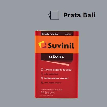 Tinta Acrílica Premium Fosco Aveludado Clássica Prata Bali 16L Suvinil