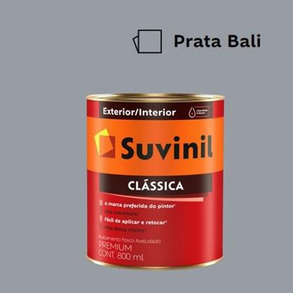 Tinta Acrílica Premium Fosco Aveludado Clássica Prata Bali 800ml Suvinil
