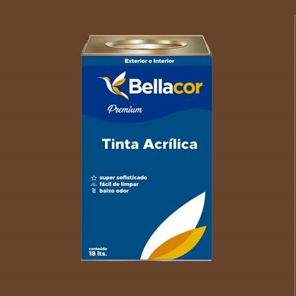 Tinta Acrílica Semi-Brilho C109 Chocolate Amargo 16L Bellacor