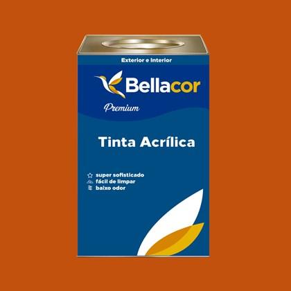 Tinta Acrílica Semi-Brilho C28 Laranja 16L Bellacor