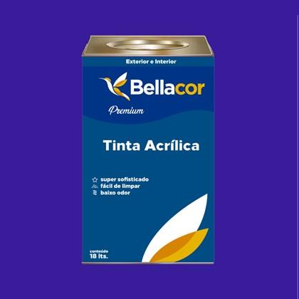 Tinta Acrílica Semi-Brilho C36 Azul Radiante 16L Bellacor