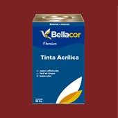 Tinta Acrílica Semi-Brilho C37 Vermelho Sangue 16L Bellacor