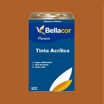 Tinta Acrílica Semi-Brilho C40 Marrom Terra 16L Bellacor