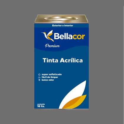 Tinta Acrílica Semi-Brilho C95 Cinza Grafite 16L Bellacor