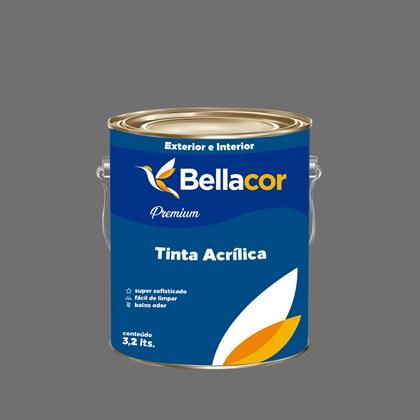 Tinta Acrílica Semi-Brilho C95 Cinza Grafite 3,2L Bellacor