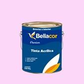 Tinta Acrílica Semi-Brilho Premium A04 Rosa Frio 3,2L Bellacor