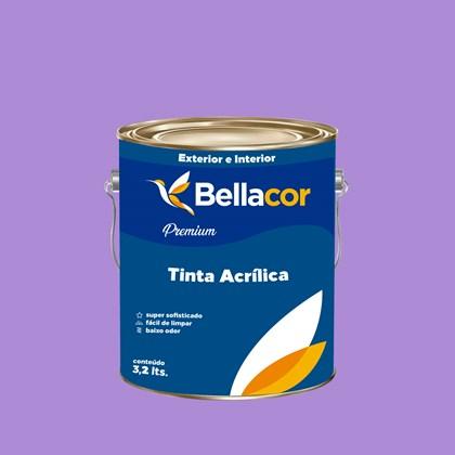 Tinta Acrílica Semi-Brilho Premium A12 Lavanda 3,2L Bellacor